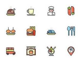 50 枚餐厅元素图标