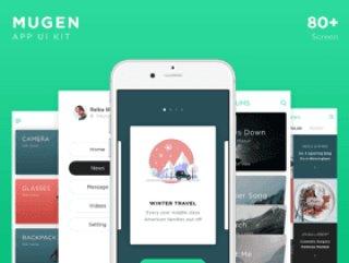 在Sketch&Adobe XD,Mugen iOS UI Kit中设计的80+ iOS移动应用UI工具包