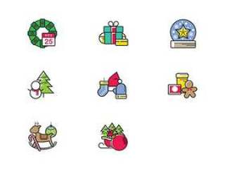 Christmas Color Icons