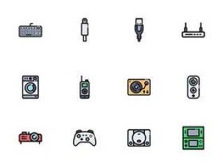 100 枚数码家电图标