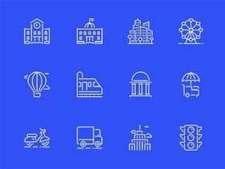 20 枚城市元素图标