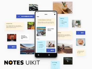 简单实用的笔记ui套件,Notes UI套件