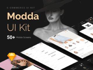 任何电子商务移动应用程序,Modda电子商务用户界面工具包必须拥有50多个应用程序模板库