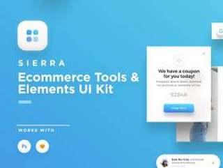 用于Sketch和Photoshop的电子商务Web工具和元素UI工具包。,Sierra Web UI Kit