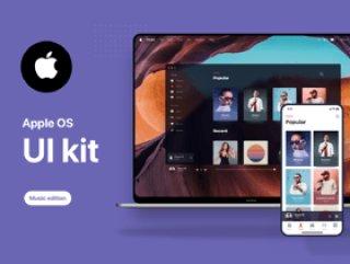 适用于Sketch,Music OS Future UI Kit的Apple OS Future UI Kit音乐版