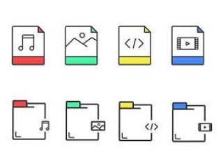 8 枚文档类型图标