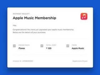 Apple Music 邮件票据
