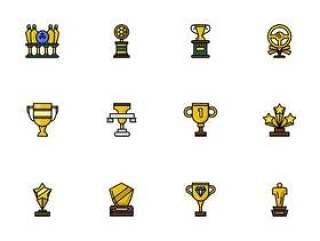 50 枚奖杯和奖牌图标