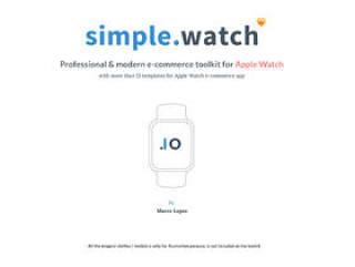 适用于Apple手表应用程序Simple.Watch的现代电子商务UI工具包