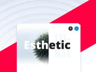 现代,清洁和简约的用户界面套件,审美的用户界面工具包