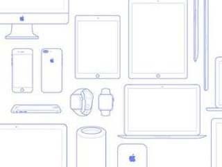Apple 设备线框图