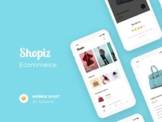 适用于iPhone X.,Shopiz UI Kit的完美电子商务UI工具包