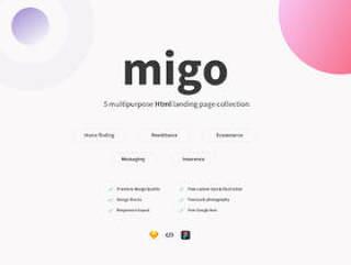 5种不同的登陆页面设计集合,Migo app登陆页面包-1
