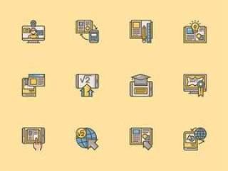 30 枚电子教育元素图标