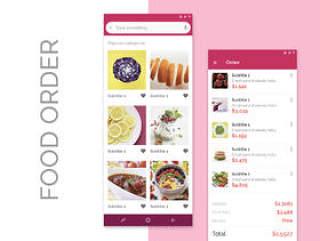 基于现代食品的移动UI工具包,用于Sketch。,Food Order UI Kits