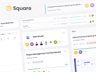 Square Dashboard UI工具包以激情和深度精确制作。方形仪表板UI工具包