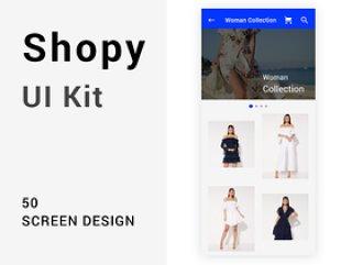 Shopy Ui套件,具有强大的视觉概念含XD源文件