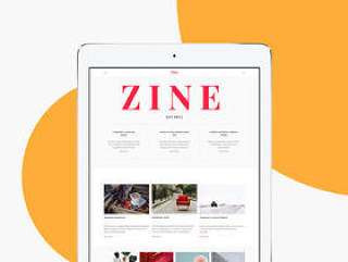 Zine UI Kit轻松构建您的博客,杂志或在线报纸