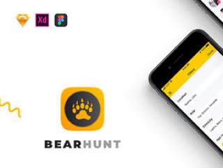 最热门的iOS约会应用程序适用于同性恋,双性恋和好奇的熊人。,BearHunt UI Kit