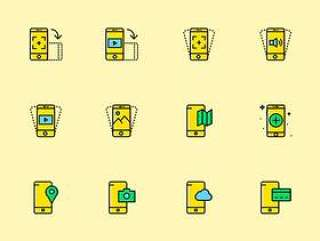 170 枚移动设备功能图标