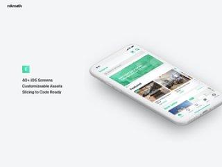 Sketch iOS UI套件,电子商务应用UI套件