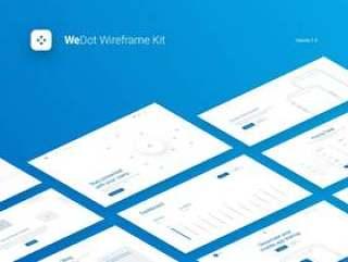 巨大的线框套件,在17个热门类别中拥有170多种布局.WeDot线框UI套件