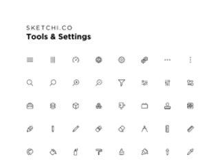 96个图标非常适合实用程序,首选项,安全性等!,工具和设置图标
