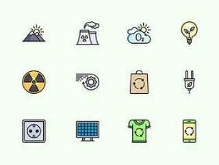 50 枚生态元素图标