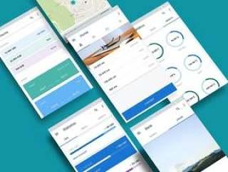 材料设计银行应用程序,材料UI工具包:金钱