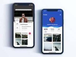 Diamond iPhone X 个人资料界面