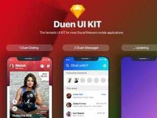 适用于社交网络移动应用程序的神奇UI工具包.Duen UI KIT