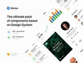 基于设计系统的380多个组件,BlöckeWebUI / UX套件
