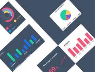 专为Sketch&Photoshop设计的Web仪表板UI工具包。,Dashboard Kit Web Vol.1