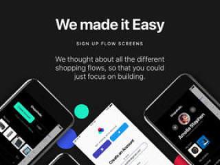 适用于Sketch,Photoshop和XD的完整iOS 11电子商务UI工具包,购物狂iOS 11