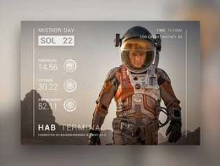 The Martian Movie Card