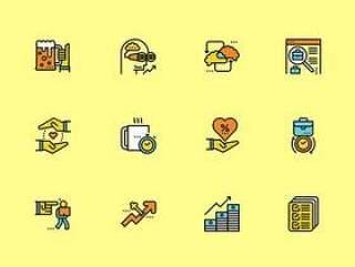 36 枚商业元素图标