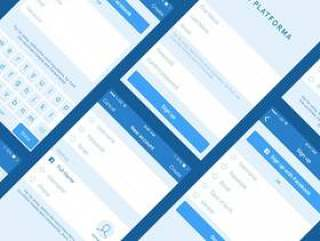 Platforma 注册登录表单线框
