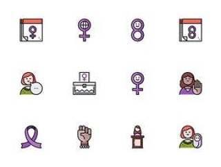 30 枚妇女节元素图标