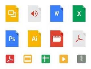 Google Drive 文件类型图标