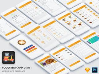 移动食品订购和交付应用程序,食品疯狂的应用程序UI工具包