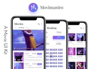 适用于Sketch。,MoviMastro UI Kit的独特聊天UI工具包