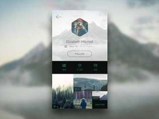 Photo APP Profile Page