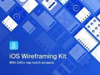 使用240多个 凹槽屏幕加速您的移动应用程序线框工作流程。,iOS线框工具包