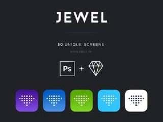 50个独特的屏幕界面ui工具包(含psd和Sketch源文件)
