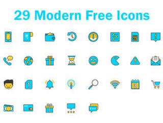 29 现代素描图标