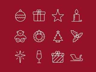 Outline Christmas Icons