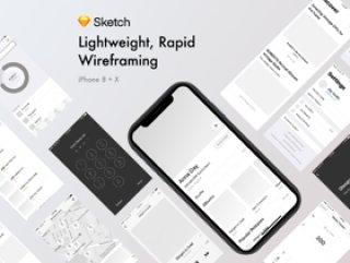 适用于iPhone X及更低版本的线框,快速线框套件Noir