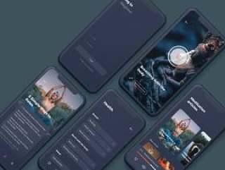 适用于Sketch。,Namaste iOS UI套件的Light&Dark Modern iOS屏幕