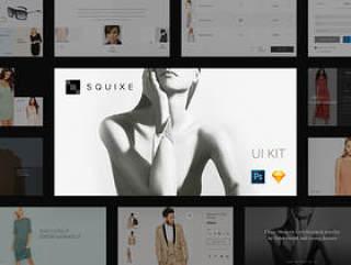 适用于Photoshop和Sketch的现代和简约UI工具包,Squixe UI工具包