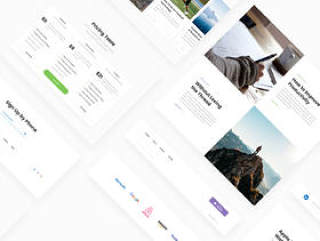 最简单的方法来设计着陆页的设计。,一个更多的用户界面工具包